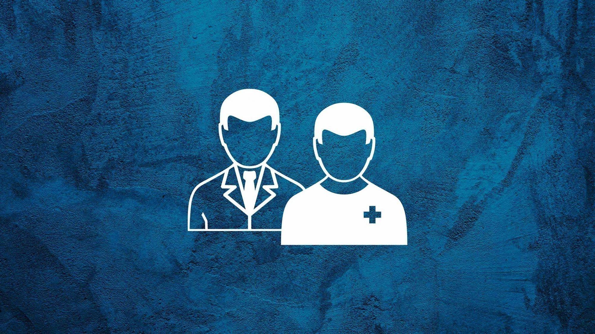 Illustration zweier Ärzte