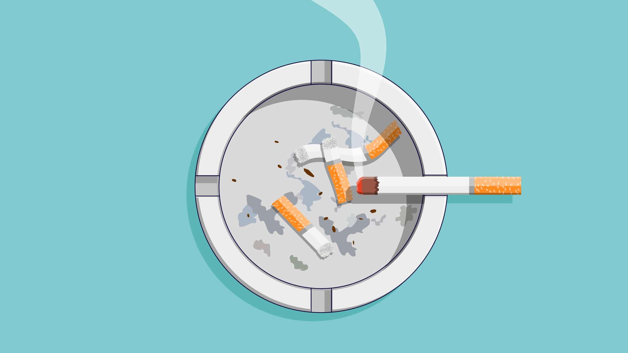 Illustration von Zigaretten.