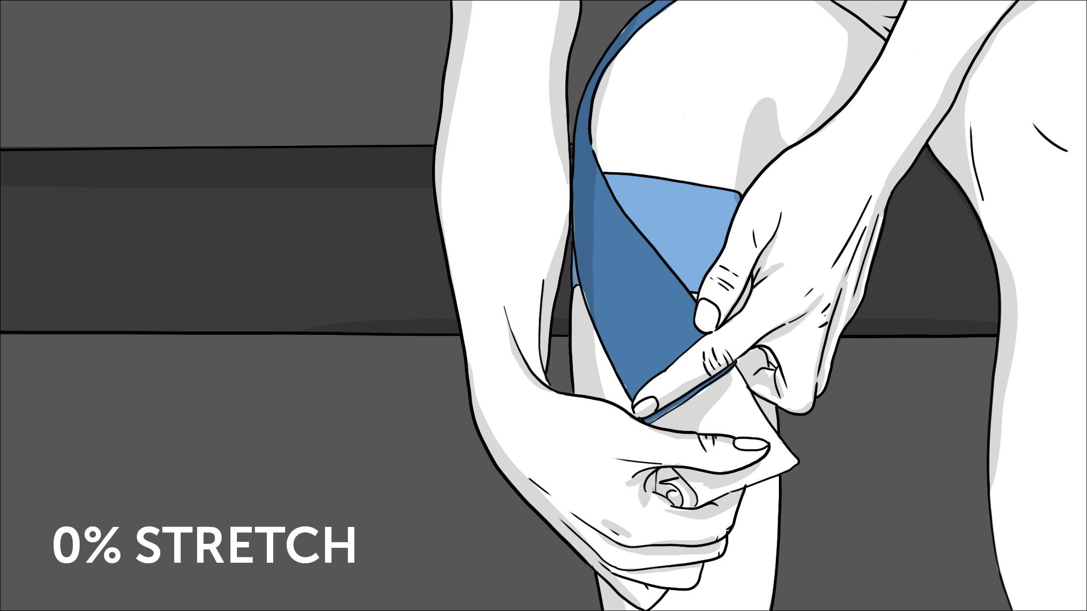 Illustration: So geht Tapen beim Knie - Schritt 5