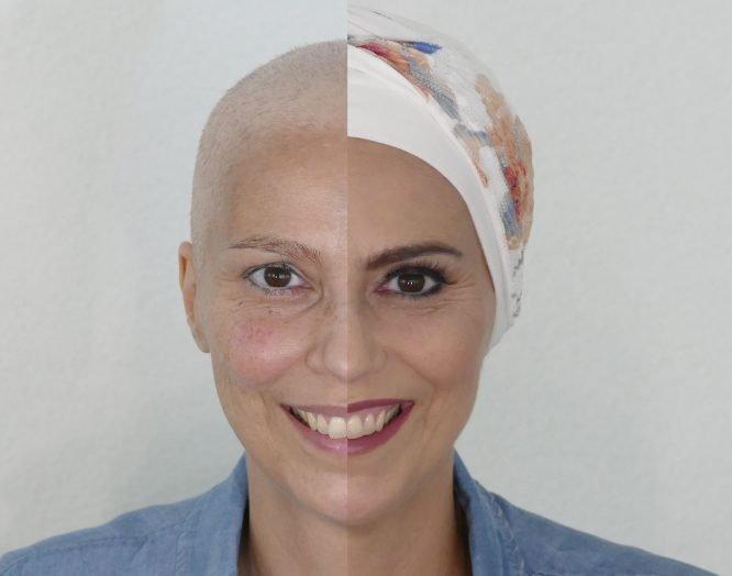 Schminktipps bei Chemotherapie: vorher und nachher