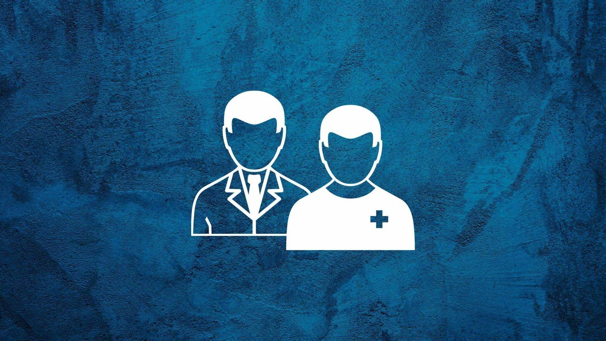 Karim Eid: Illustration zweier Ärzte.