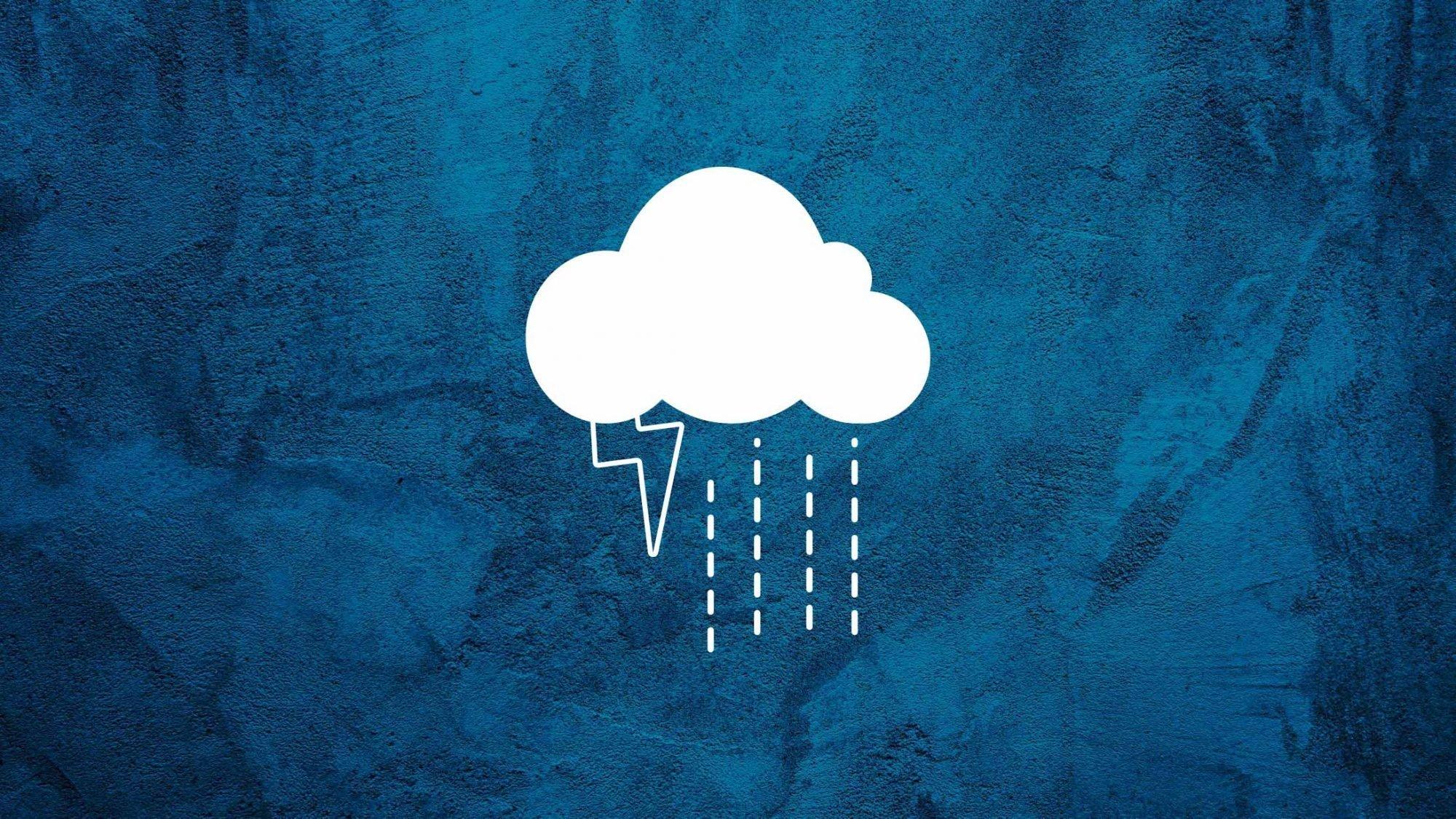 Illustration Wolke mit Regen