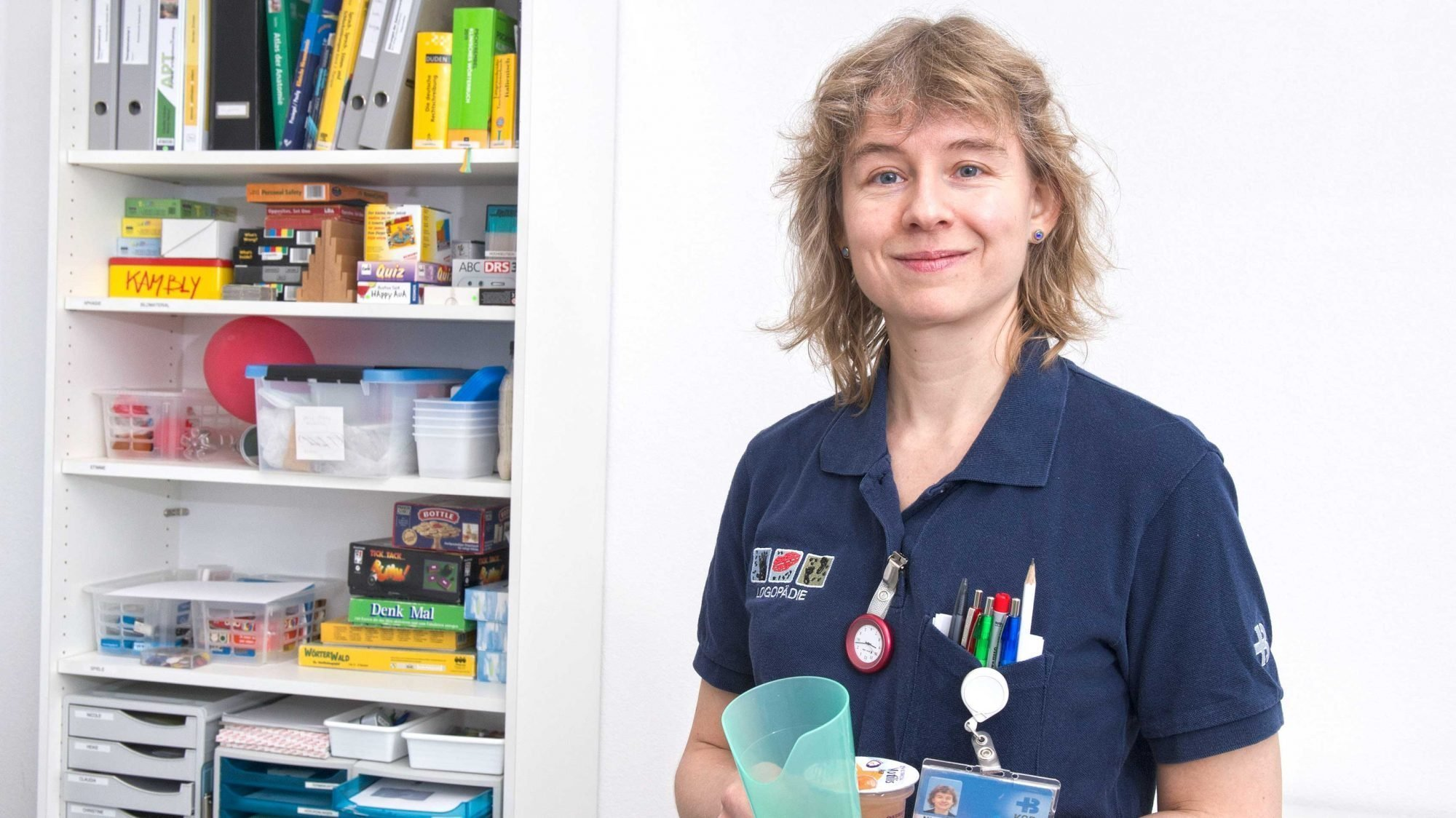 Nicole Bruggisser, Leiterin der Logopädie am Kantonsspital Baden