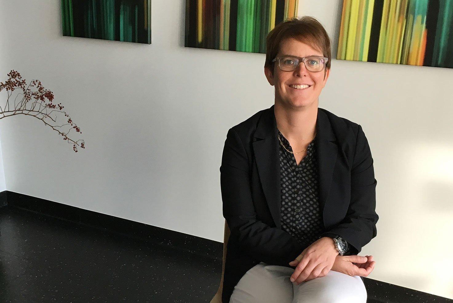 Porträt von Claudia Matter, Leitende Psychologin der Psychoonkologie am KSB