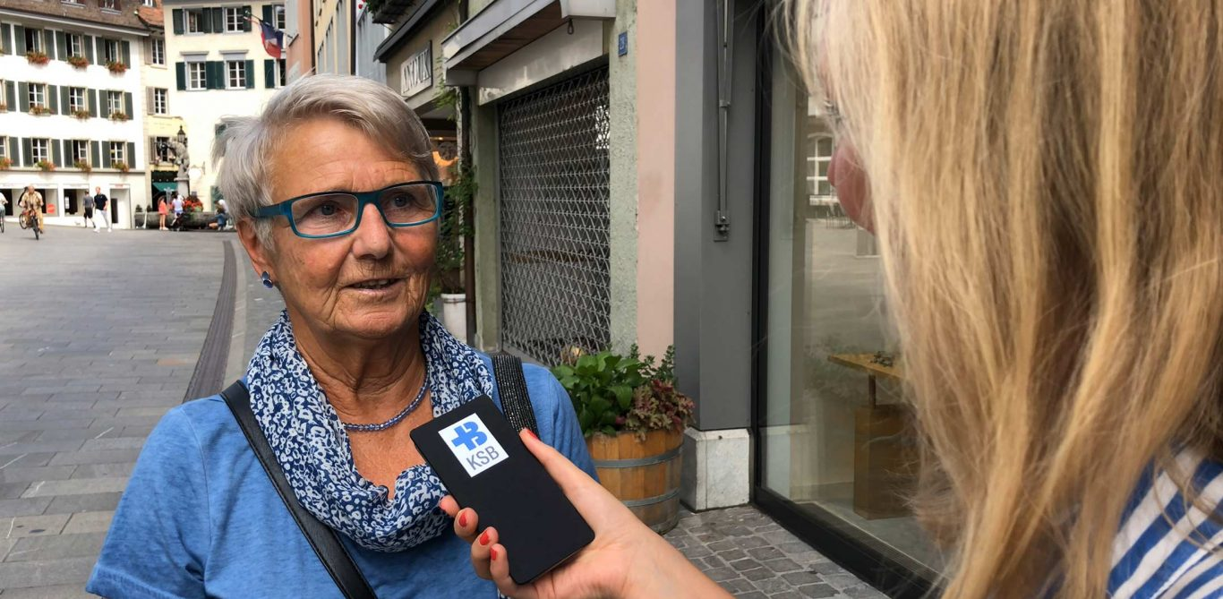 Ambulant vor Stationär: Eine Passantin im Interview.