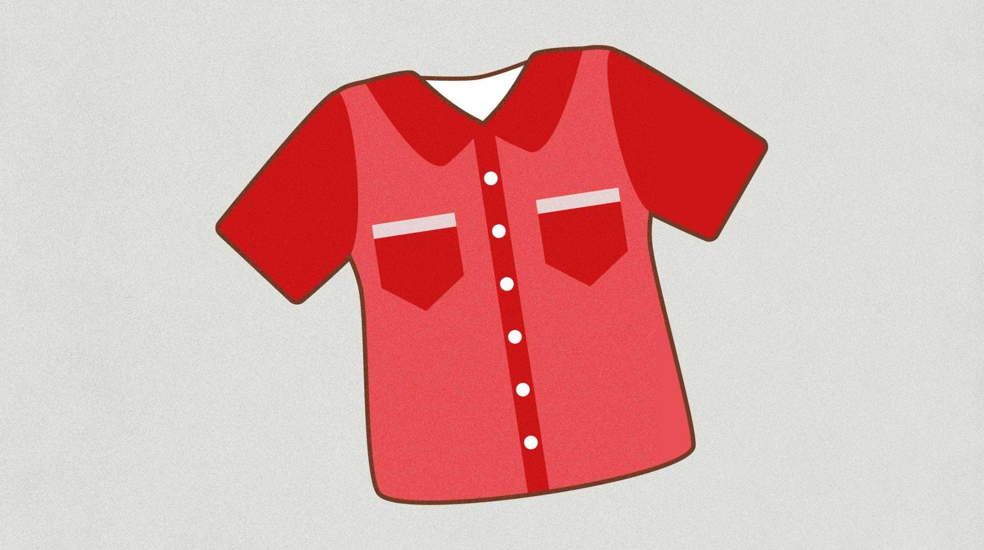 Geburtsrituale: Illustration eines roten Hemdchens.