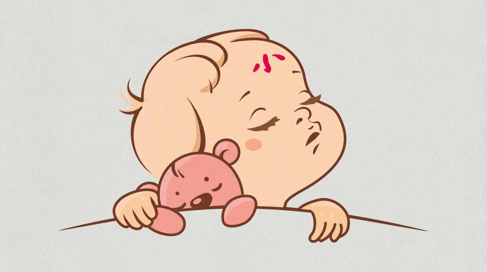 Geburtsrituale: Illustration eines gesegneten Babys.
