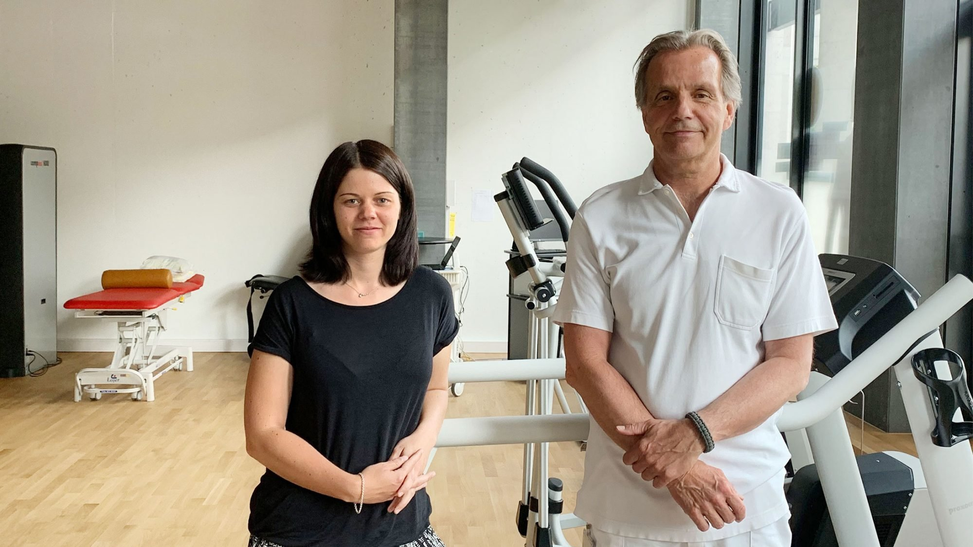 Ernährungsberaterin Nadja Greub und Physiotherapeut Uwe Hallmann