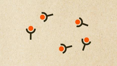 Abbildung von Antikörpern, die durchs Impfen entstehen.