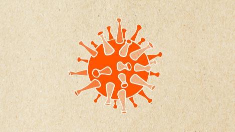 Abbildung eines Virus