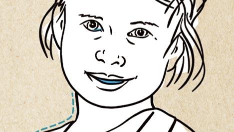 Im abgebildeten Gesicht sind Augen, Nase und Mund markiert. Dort schützen Schleimhäute vor gefährlichen Eindringlingen.