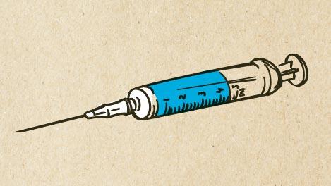Abbidlung einer Spritze für die Impfung.