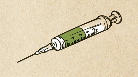 Abbildung einer Spritze fürs Impfen.