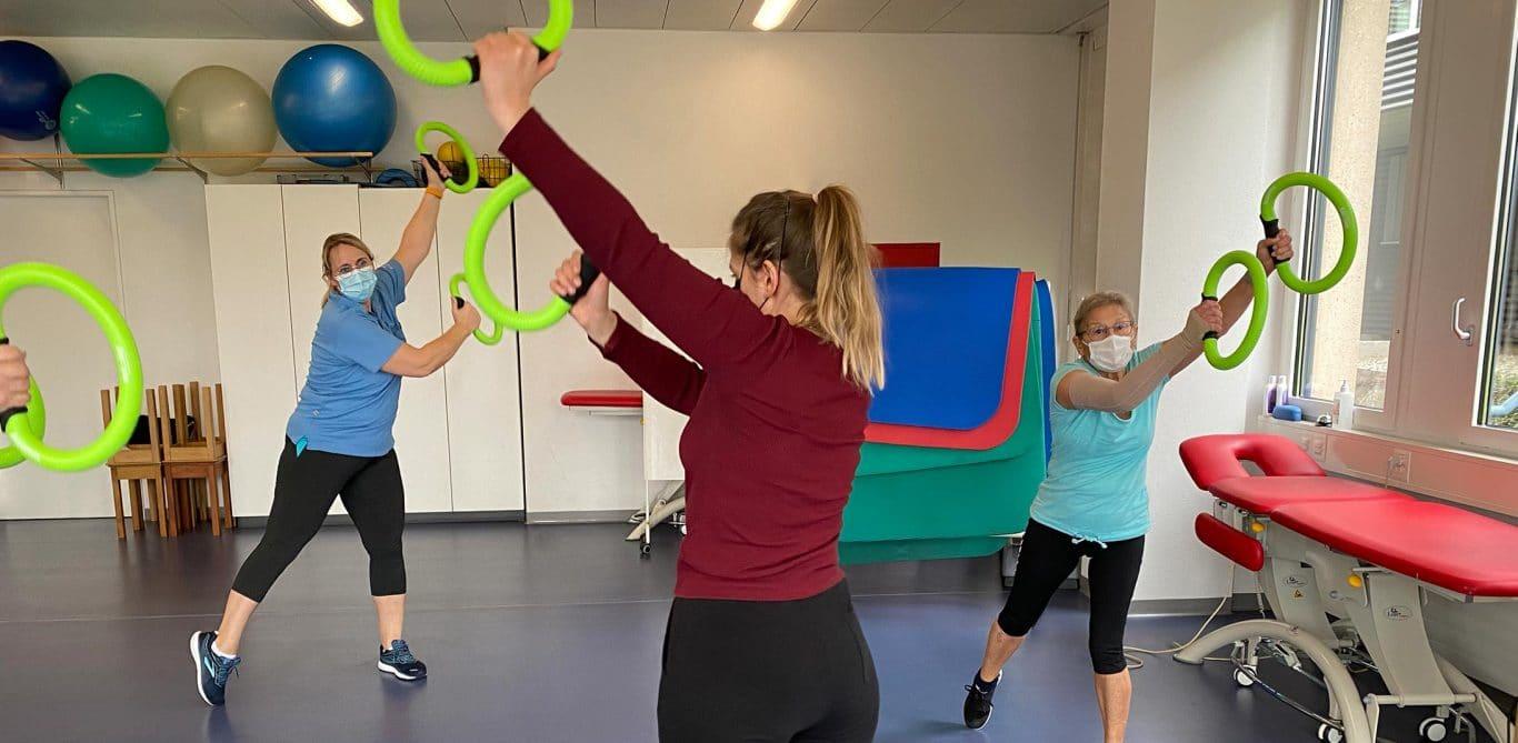 Eine Gruppe im LymphoFit Training am KSB