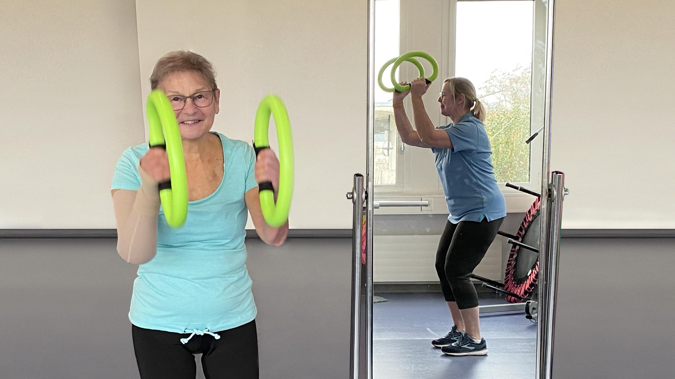 Silvia Gasser im LymphoFit Training am KSB