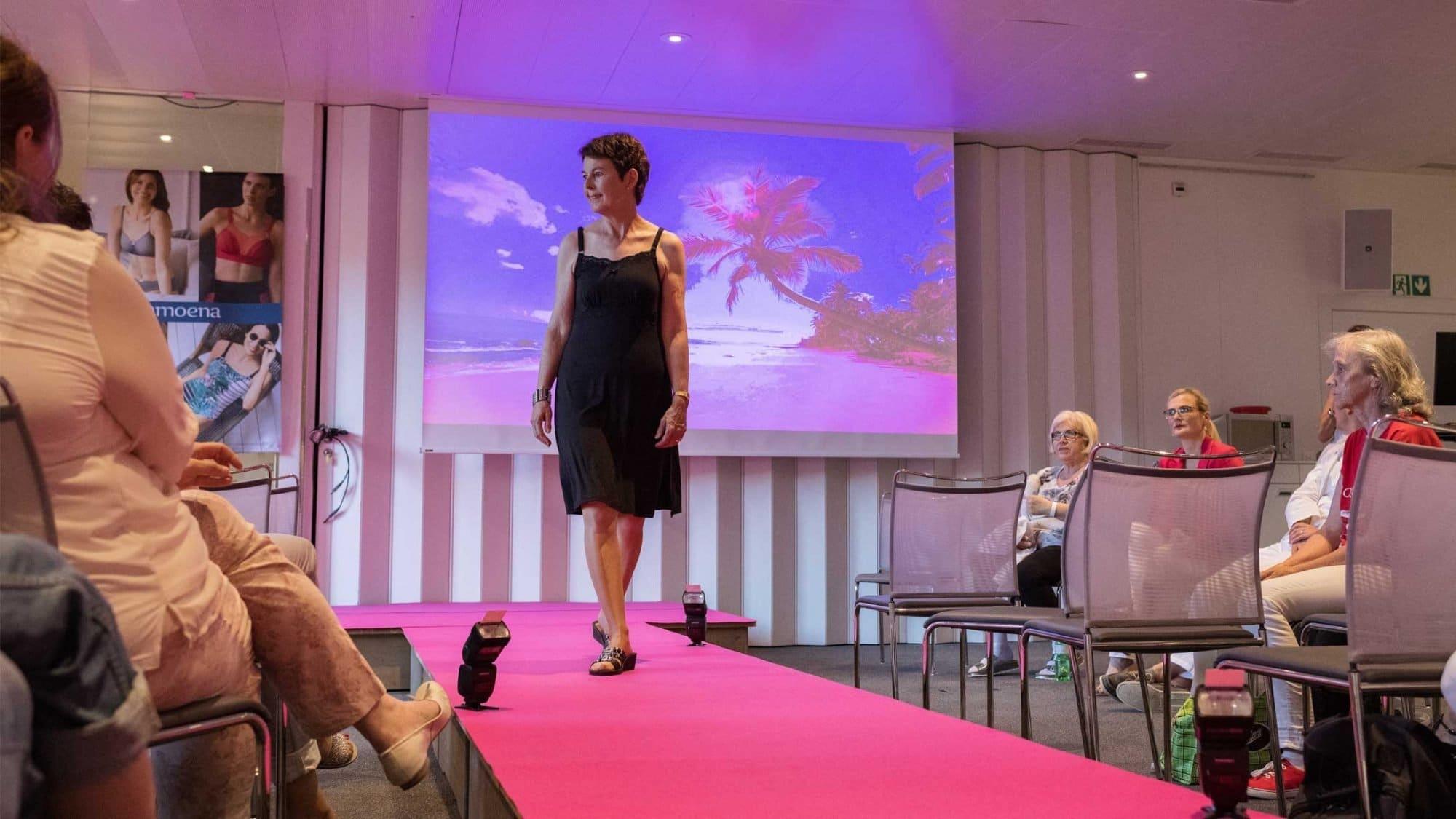 Vorschaubild zum Video über die Modenschau für Brustkrebspatientinnen im KS Baden