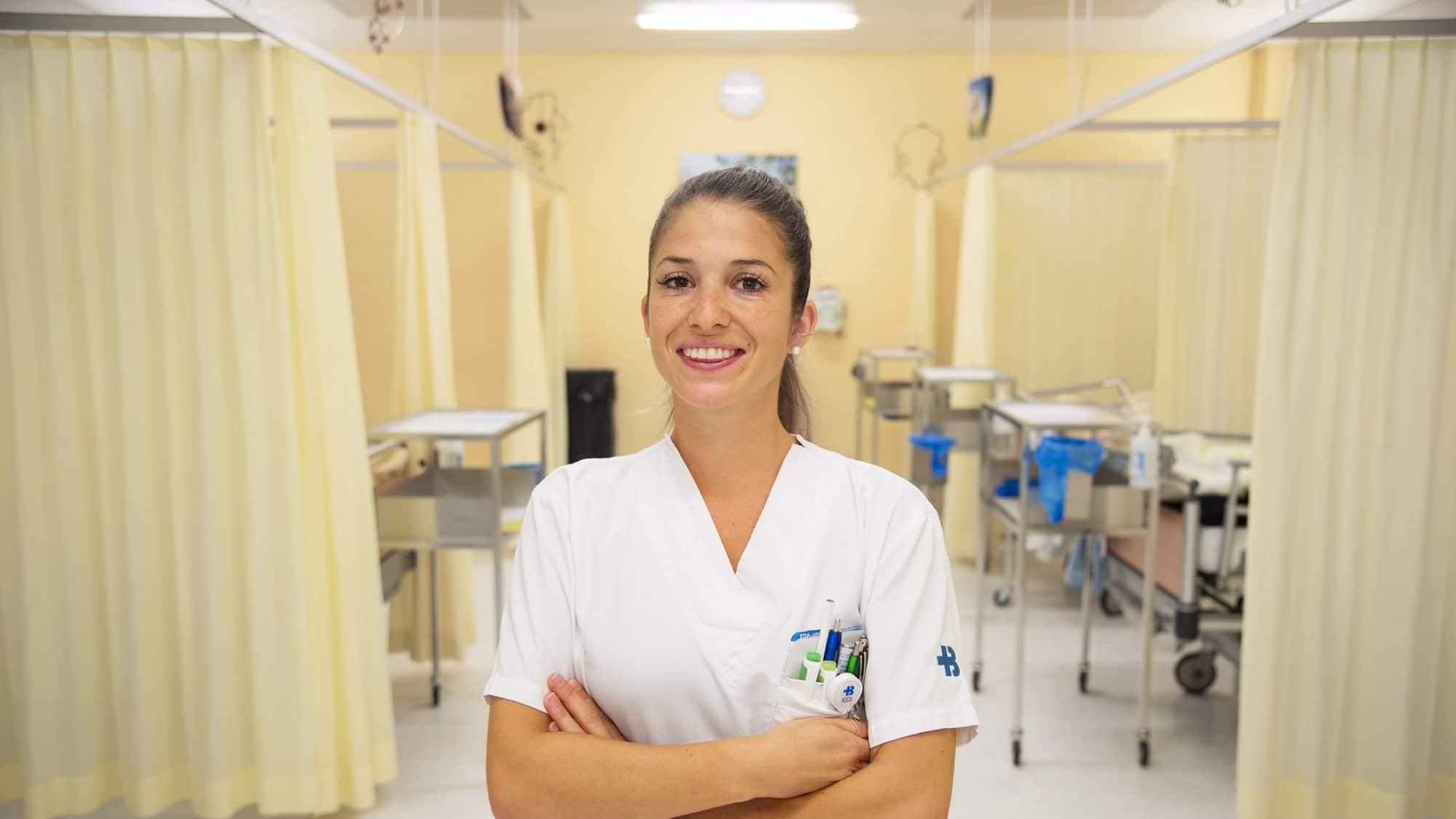 Chantal Wächter arbeitet im Aufwachraum des KSB