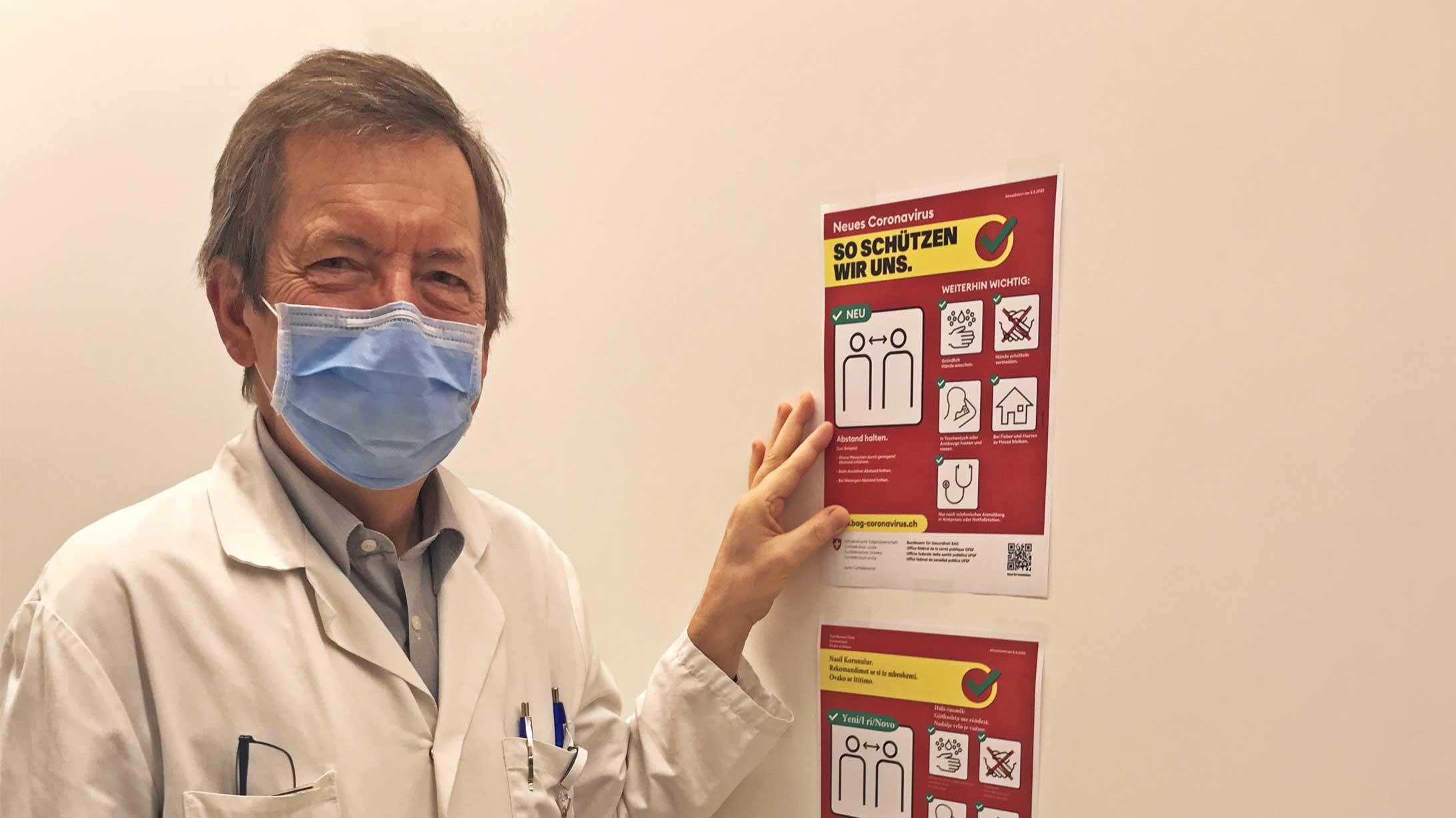Dr. Clemens Caspar, Chefarzt Onkologie am KSB