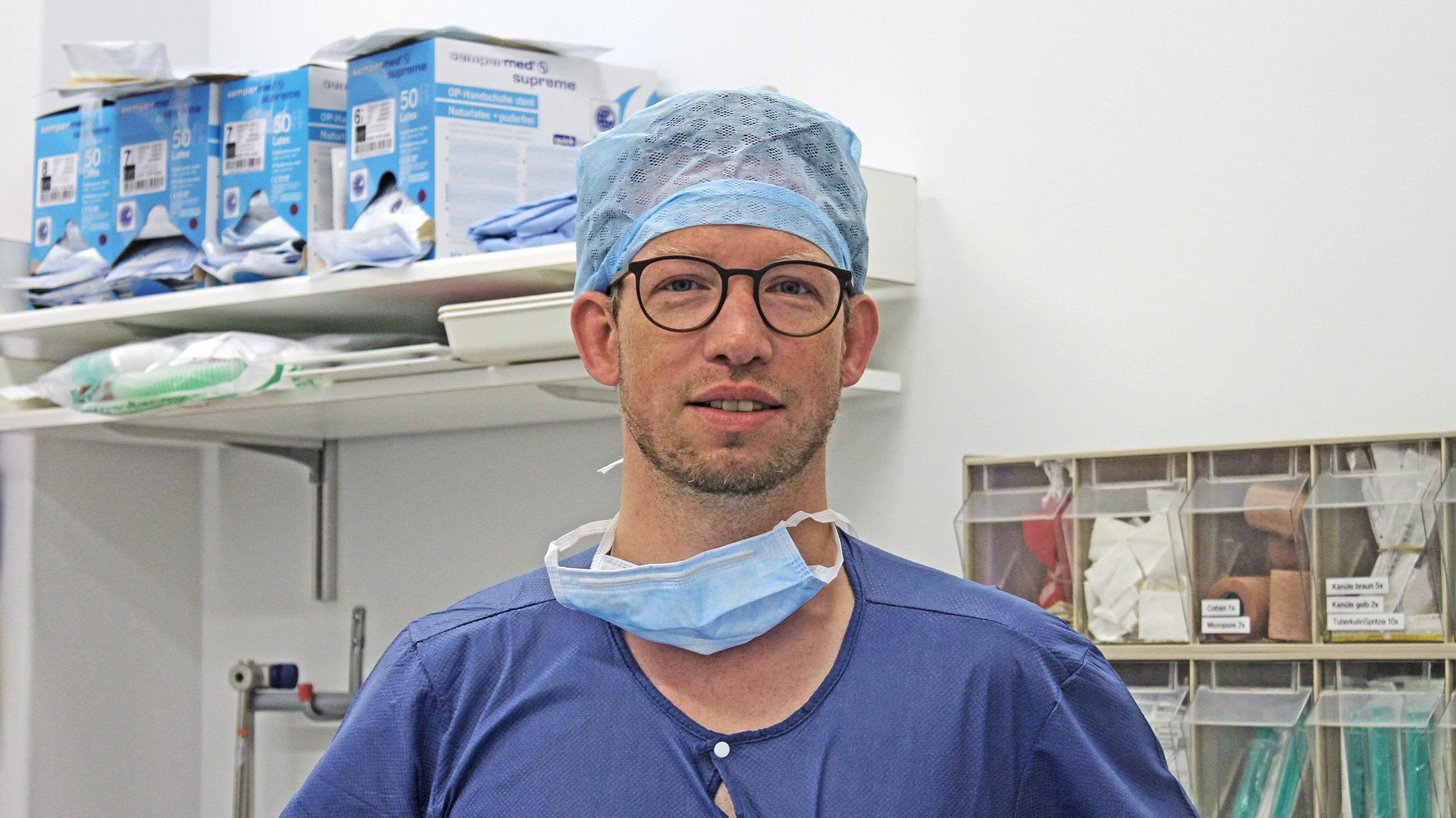 Florian Rossmanith, Spezialist für Narkose bei Kindern am KSB