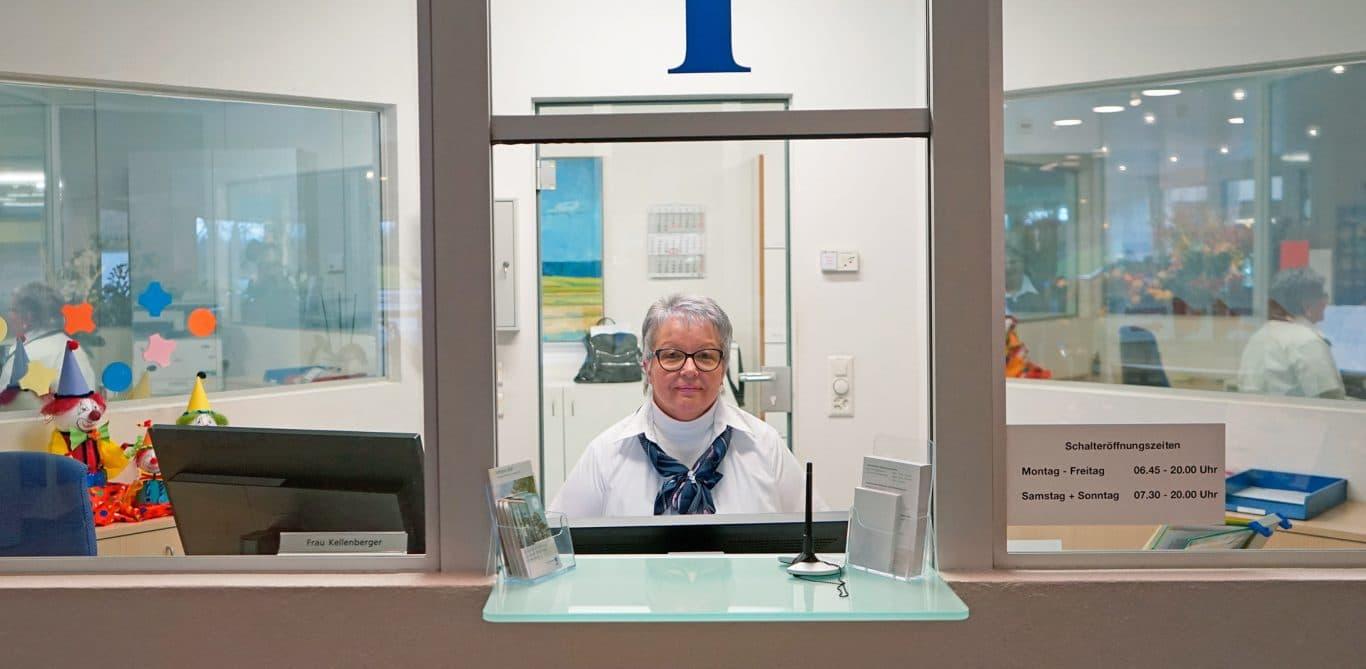Susanne Schneider, KSB-Mitarbeiterin am Empfang