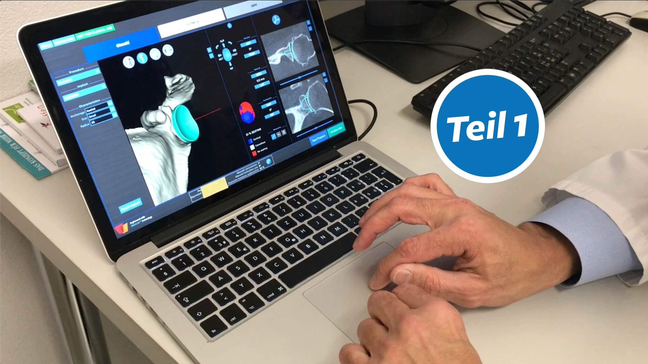 Bild zeigt 3d-Animation an einem Computer