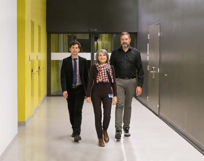 Michael Egloff, Endokrinologe, Manuela Birrer, Angiologin und Daniel Disteldort, Urologe