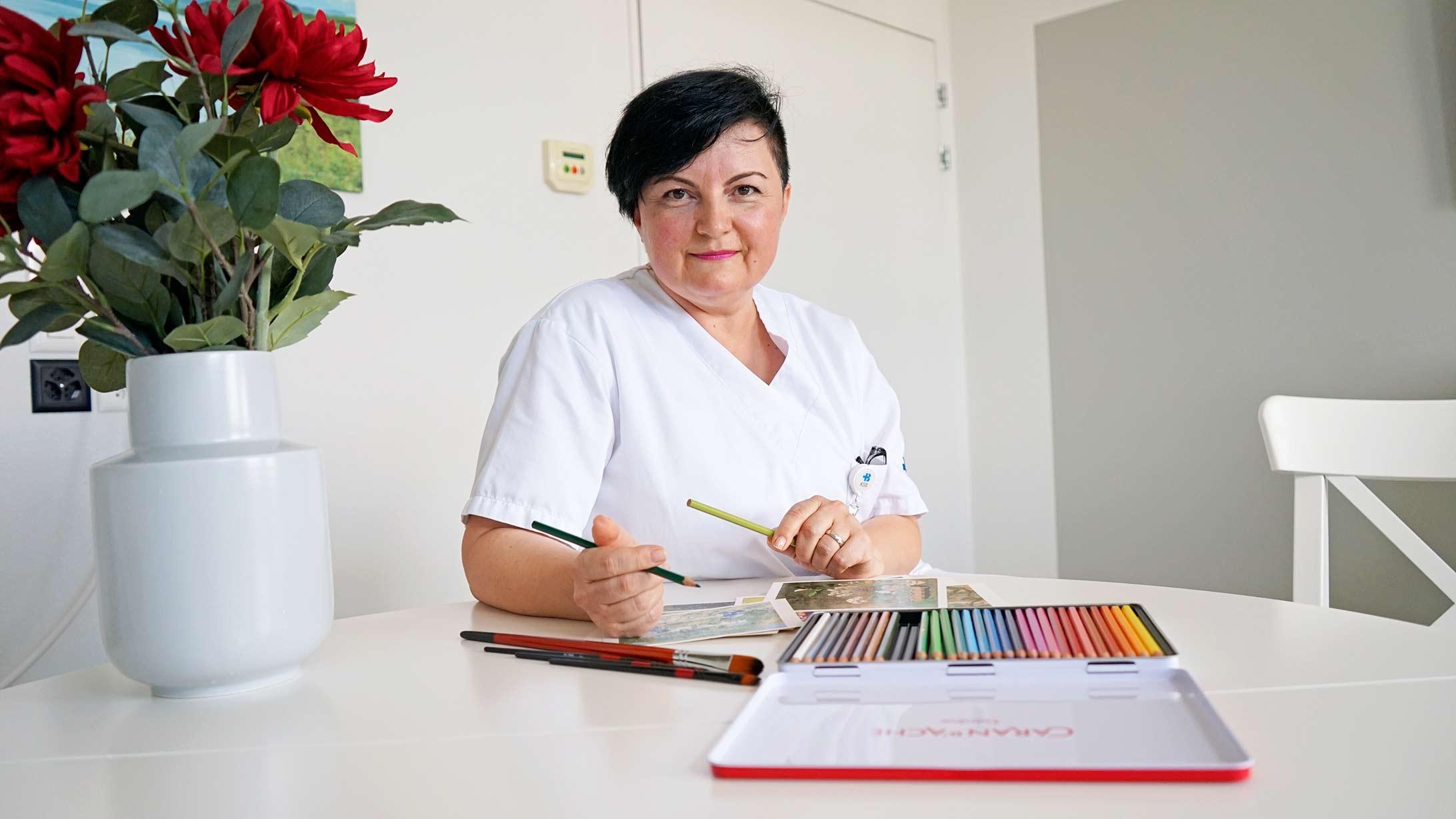 Kunsttherapeutin Jasmina Filati Kinkela