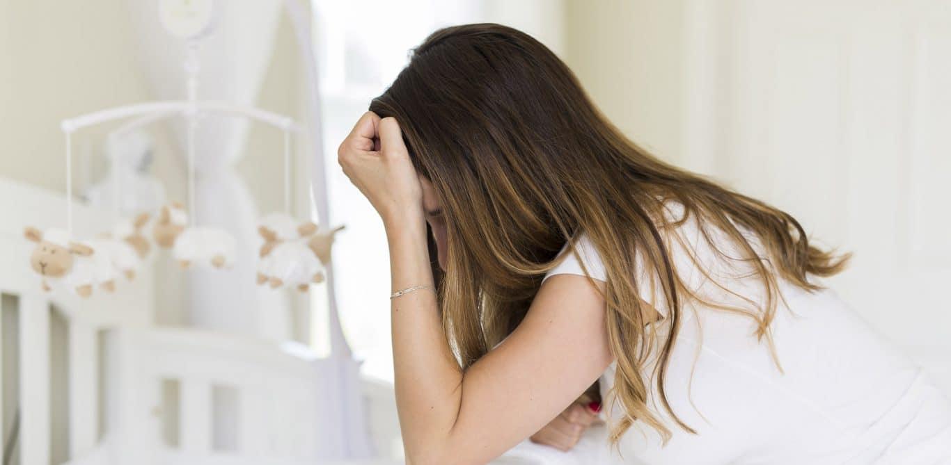 Mutter mit postpartaler Depression