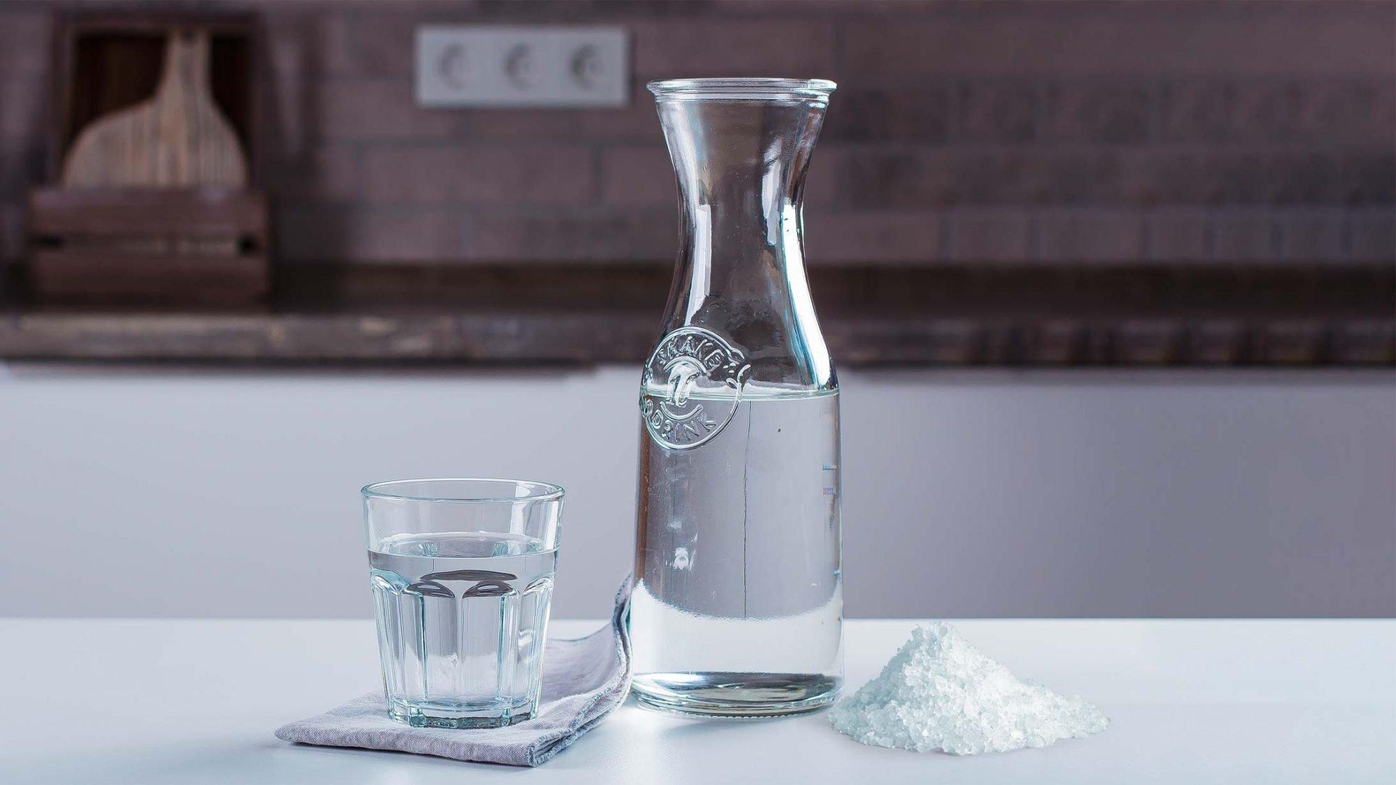 Bild mit Wasser und Salz