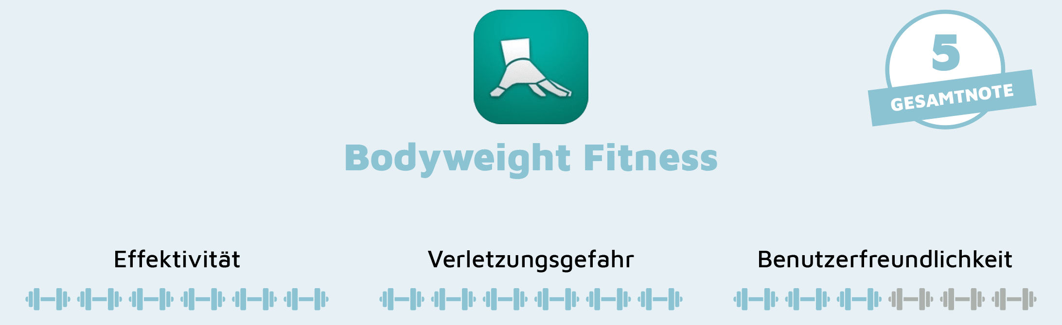 Fazit der App Bodyweight Fitness
