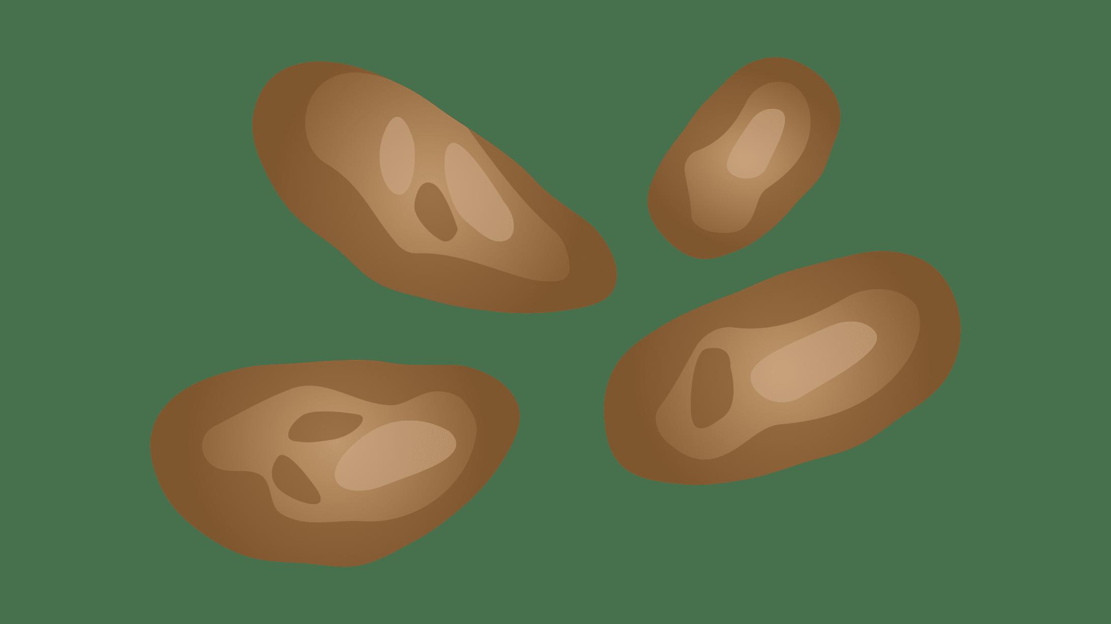 Illustration des Stuhlgang-Typ 5: Weiche Kotklümpchen