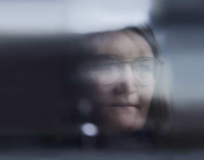 Verschwommenes Porträt von Patricia Stöcklin, Leiterin Intensivstation am Kantonsspital Baden