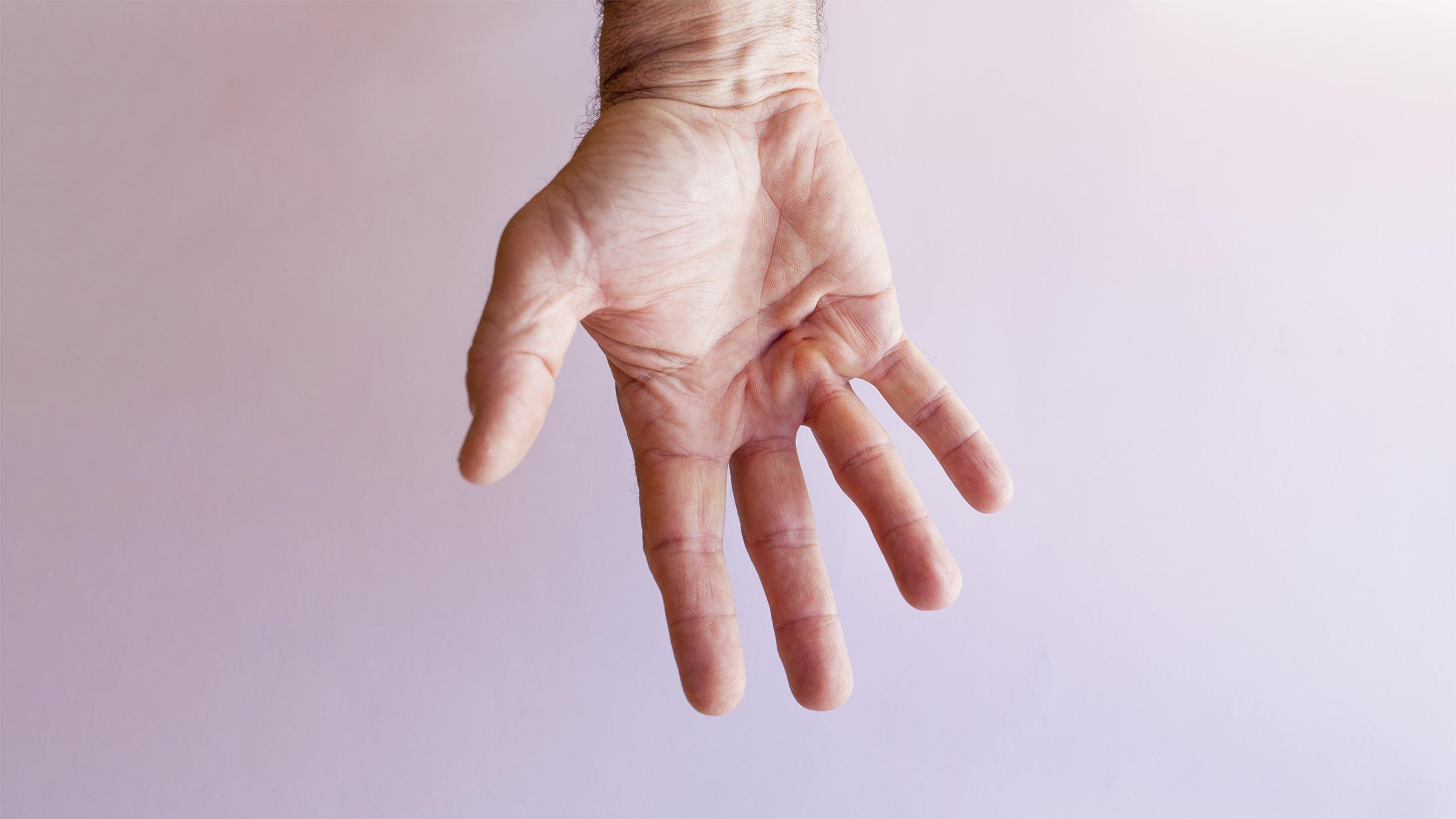 Bild einer männlichen Hand