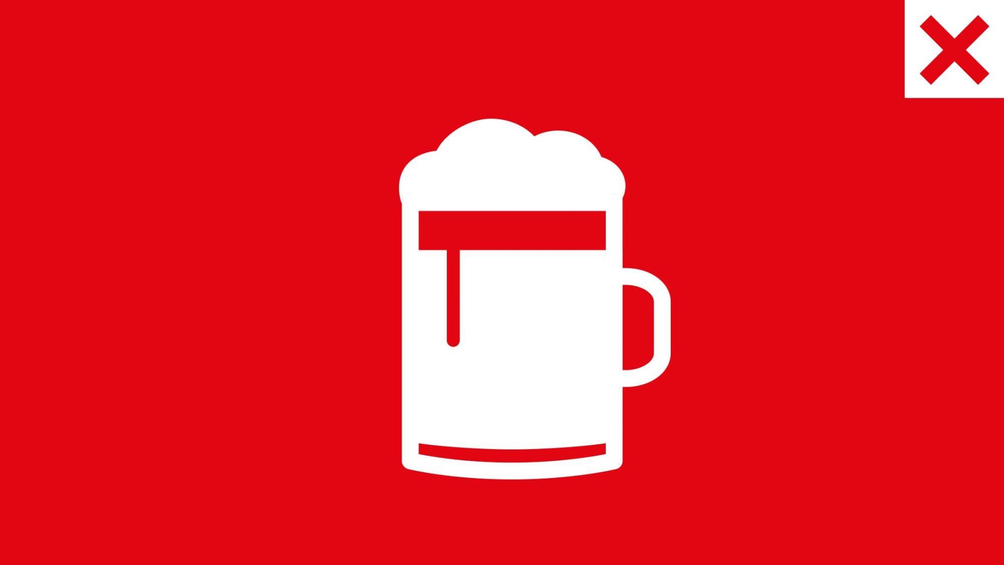 Gicht: Bild eines Biers