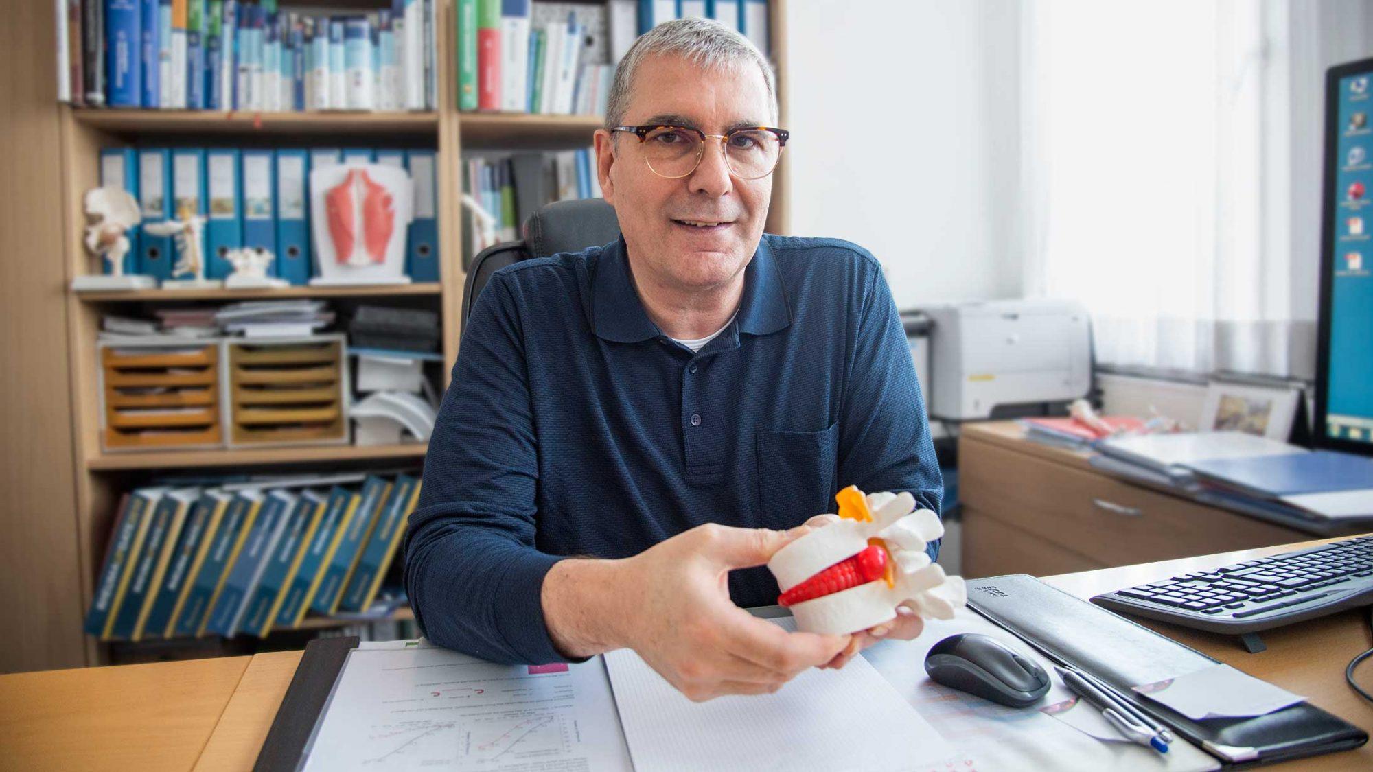 Fersensporn: Andreas Thueler ist Chef Rehabilitation und Rheumatologie am KSB