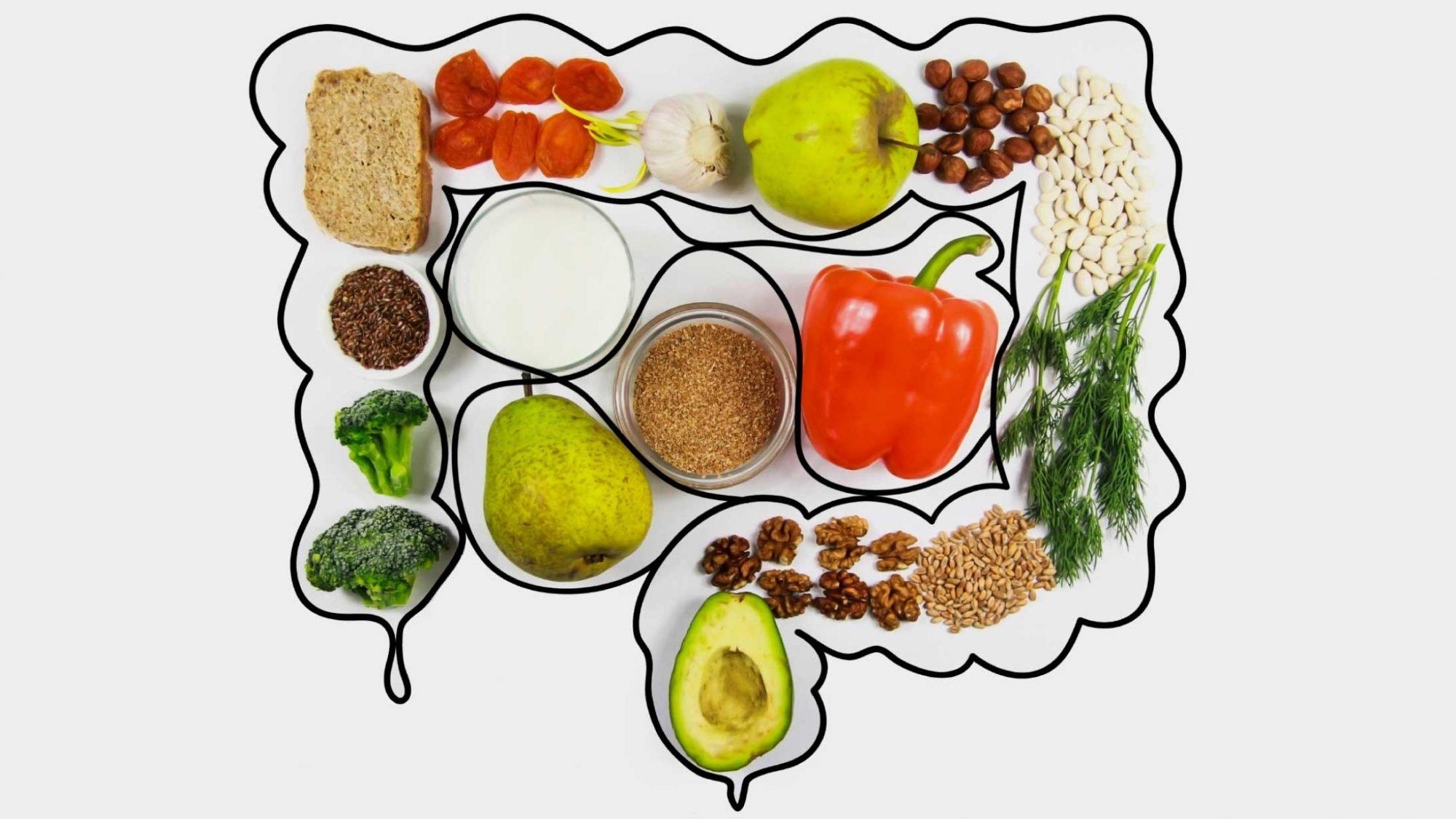 Gemüse und Früchte unterstützen das Mikrobiom im Darm.